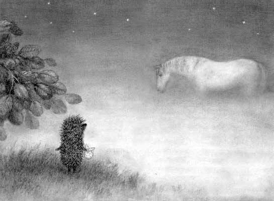 ежик в тумане лошадь